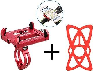 Lixada Antideslizante Bicicleta Soporte de Teléfono Ajustable Soporte de Montaje para 3.6-6.2 Inch