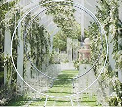 N/ KDHARMR 2m DIY Metal Round Background Circle Wedding Party Backdrop Romantic Floral Arch Ceremony Decorative Frame Meta...