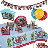 Angesagter Partykoffer für acht Personen im Feuerwehr Motiv. Der Koffer beinhaltet insgesamt 60 Teile. Er setzt sich zusammen aus acht Tellern, acht Bechern, 20 Servietten, fünf Luftballons, acht Geschenkebeutel, einer Girlande, einer Tischdecke, ach...