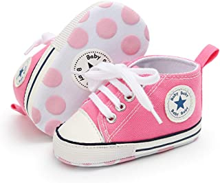 e40ba9791589 Babycute Infant Canvas Shoes Trainers Soft Sole Casual Sneakers Baby Boys  Girls First Walkers Shoes Lace