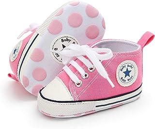 Babycute Chaussures de Toile pour bébé Baskets Occasionnelles à Semelle Souple Bébés garçons de Filles Chaussures First Wa...
