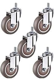 8 Pollici 7 Pollici 15 cm Nero 20 cm SMYH 2 Pezzi Accessori per rotelle per sedie a rotelle con Forcella Anteriore e Cuscinetto per Telaio in Acciaio 6 Pollici 18 cm