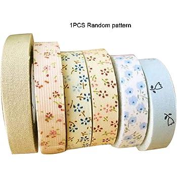 nbvmngjhjlkjlUK Cinta de Tela, Estampado Floral Plancha de un Solo Pliegue Bies de algodón Cinta de bies Encuadernación para Mantel Edredón de Ropa Costura Artesanal (Colorido): Amazon.es: Hogar