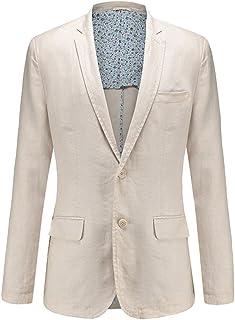 Allthemen Men's Canvas Jacket Linen Suit Jacket Leisure Jacket