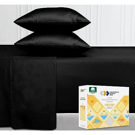 Details about  /New year sale 4PCs Split Head Sheet Set 100/%Cotton Sheets 500 TC Chocolate Solid