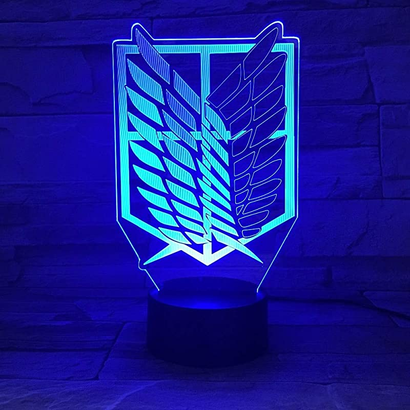 Kabeto 7 Colors Lamp Anime Attack On Titan Wings Of Liberty 3D Light Touch LED Lamp USB Or 3AA Battery Operated Lamp Kids Gift