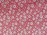 Confección Saymi Metraje 1,50 MTS Tela Liberty Floral 100% algodón Estampado Ref. Edel Weiss Rojo, Doble Ancho 2,80 MTS.