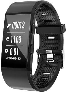 Pulsera Inteligente YMCMC con GPS, Pantalla Grande, Bluetooth, Fitness, Actividad, rastreador, pulsómetro, IP67, Resistente al Agua, Reloj Inteligente para Hombre multifunción