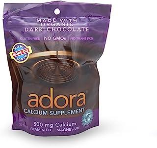 Adora Calcium Supplement Dark Chocolate, 30 Count (Value Pack of 3)