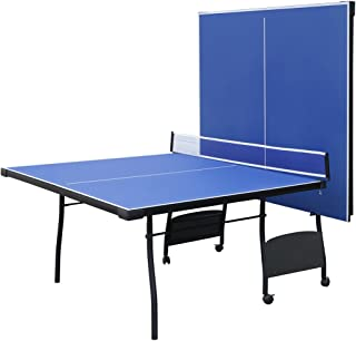 Hysport 9ft Folding Table Tennis Table Ping Pong Table with Net Set and Waterproof Cover