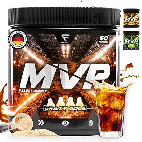 MVP - Fokus Booster mit DMAE - Made in Germany - 60 Portionen - Hochdosierter Energy Drink für perfekten Fokus, Konzentration - Kaffeeersatz - für Gamer & zum Arbeiten - 300g (Crazy Cola)