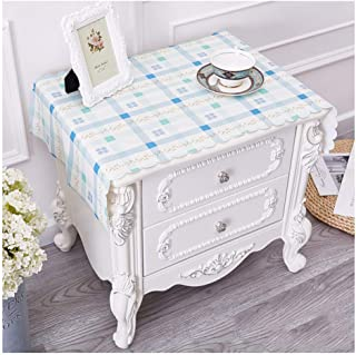 Tableclothkitchen Linen PVC Bedside Table Waterproof Property Coffee Table Garden Small Fresh (Color : B, Size : 40 80cm)