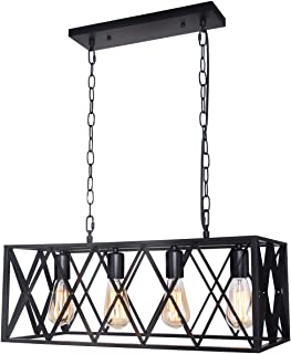 Henveton Industrial Kitchen Island Light, Farmhouse...