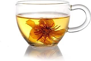 Xiazhi Handcraft Borosilicate Glass Tea Cups, Set of 4, 90ml