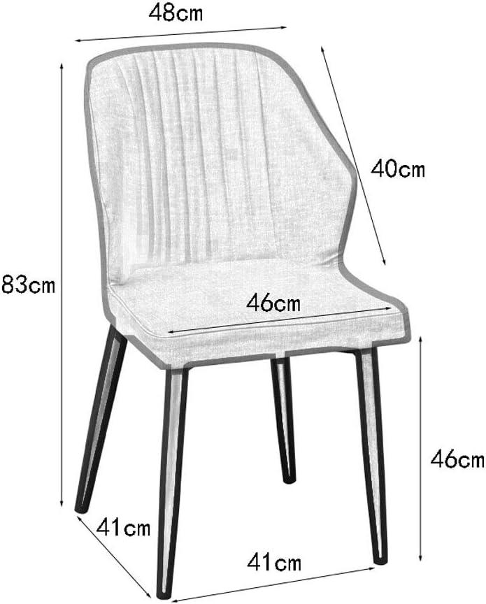 Ping Bu Qing Yun Chaise, Dossier Chaise de Salle Nordique Bureau des ménages Tabouret Ménage Loisirs Ordinateur Chaise 4 Couleurs en Option @ (Color : C) D