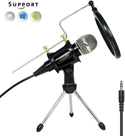 Microfono a condensatore di registrazione professionale per microfono per telefono e computer con supporto per stand e shock compatibile per YouTube, Skype, FaceTime, Vocali, registrazione di Podcast MC6B - Trova i prezzi più bassi