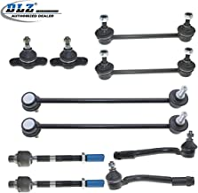 DLZ 10 Pcs Suspension Kit-2 Front Lower Ball Joint 2 Inner 2 Outer Tie Rod End 2 Front 2 Rear Sway Bar Compatible with 2007 2008 2009 2010 Magentis Optima Rondo K750032 ES800346 K500074 K750357