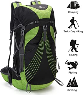 CAMEL CROWN 36-45L Internal Frame Backpack for Camping,Hiking,Hunting and Outdoor Activities with Rain Cover(min36L-max55L) …
