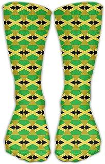 Bigtige, Hombres Mujeres Clásicos Calcetines deportivos Bandera de Jamaica Diseño de arte Calcetines deportivos personalizados 50cm de largo-Toda la temporada