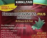 Kirkland Signature Maximum Strength Hydrocortisone Cream 1% With Aloe, 3Pack (2Oz X 4)