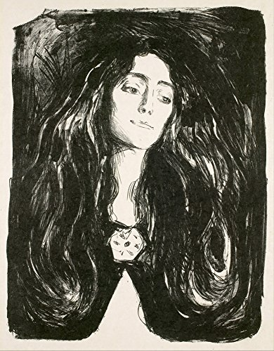Berkin Arts Edvard Munch Giclée Leinwand Prints Gemälde Poster Reproduktion (die Brosche. Eva Mudocci)