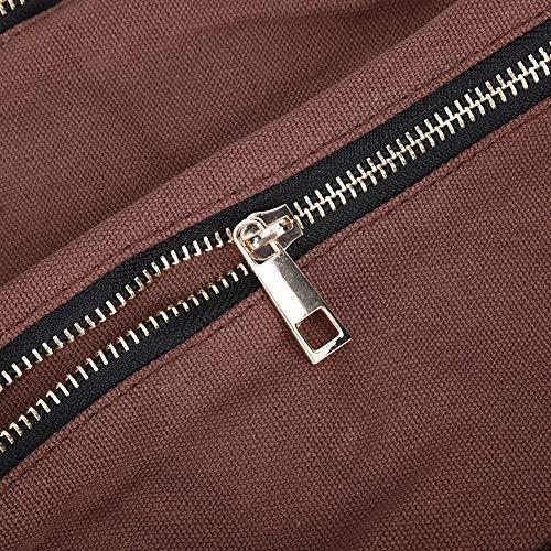 Organizador de herramientas de lona, bolsa de color café, para llave de destornillador Bolsa de herramientas de reparación Portaherramientas de lona