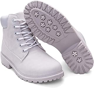 Women's Lace Up Low Heel Work Combat Boots Waterproof...