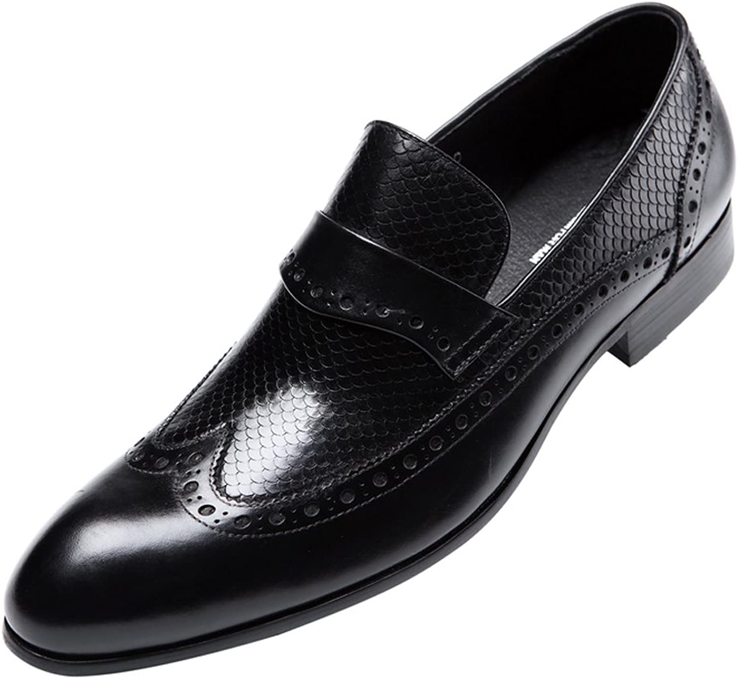 MEbox Mens Casual Lined Dress Oxfords Leather shoes