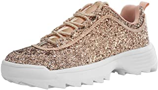 LUCKY-STEP Sneakers for Women Glitter Non-Slip Outdoor Running Shoes - Footwear Choice