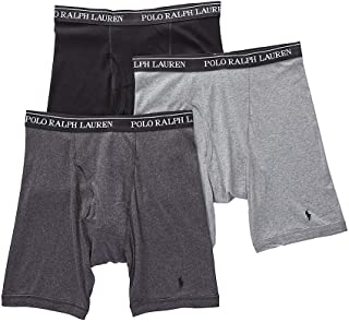 Men's Classic Fit w/Wicking 3-Pack Long Leg Boxer Briefs