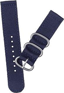 Correia de pulseira de relógio de 20 mm durável 2 juntas de nylon pulseira de pulseira para substituição de relógio (azul ...