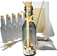 20 Message in a Bottle Invitations Kit for Weddings, Parties and Events (Beach/Ocean, Glass)