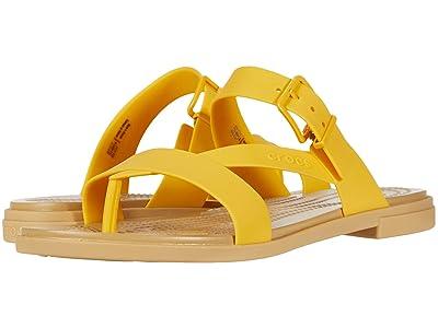 Crocs Tulum Toe Post Sandal (Canary/Tan) Women