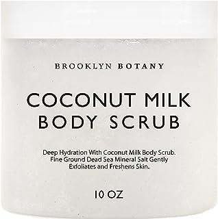 Brooklyn Botany Coconut Milk Body Scrub 300ml - Made With Dead Sea Salt and Essential Oils