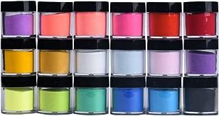 Beisoug 18 Colores Acrílico Nail Art Tips UV Polvo en Polvo Polvo Diseño Decoración Manicura 3D