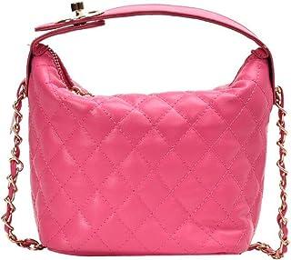 One shoulder small square bag, simple messenger bag, diamond small sachet, pu female bag, large capacity travel bag, non-adjustable shoulder strap, black, white, pink