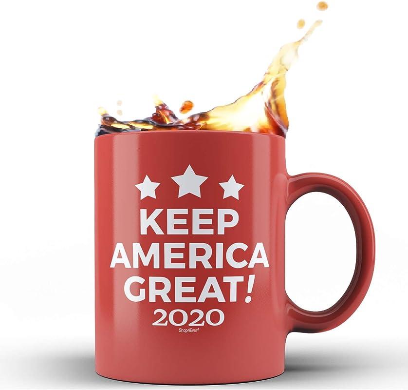 Shop4Ever Keep America Great 2020 Novelty Ceramic Coffee Mug Tea Cup Gift Political Red 11 Oz