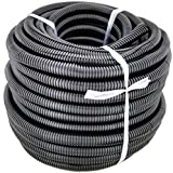 GS Power 1/2' | 50ft Split Loom Tube Polyethylene PE High Temperature Automotive, Marine, Industrial Electrical Wire & Cable Conduit (Available in: 1/4, 3/8, 1/2 & 3/4 inch)