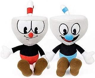Ameshop Set of 2 Cuphead Plush Figure - Cuphead & Mugman Stuffed Toy 8 Inch