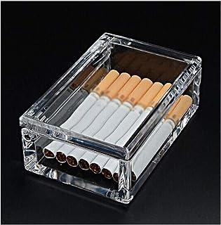 MINGSHENGWANGLUO-O Cigarette Holder 20 Packs, Men's Cigarette Case, Transparent Portable Portable Light Cigarette Case (Color : Clear)