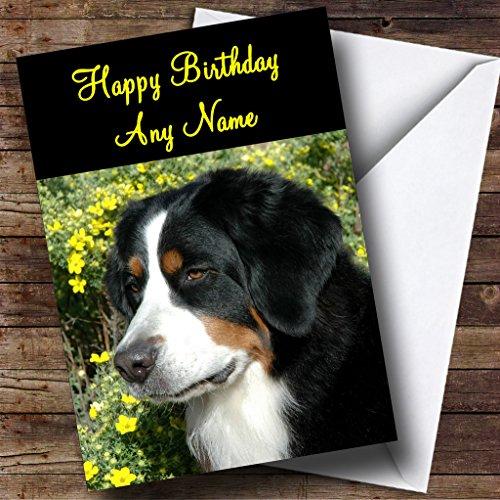 Mooie Berner Berg Hond Gepersonaliseerde Verjaardagskaart