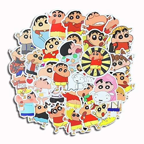SHIHE Crayon Pegatinas Cuenta de Mano de Dibujos Animados Lindo decoración del teléfono móvil Casco de Coche eléctrico Pegatinas de Equipaje a Prueba de Agua