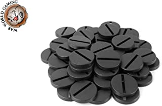 War World Gaming 25mm Round Slotted Plastic Bases (Choose Quantity) – 28mm Wargames Wargaming Stand Terrain Miniatures Figures RPGs Cavalry Historical Games Scenery