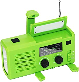 GJHK AMO/FM Radio Solar Solar Radio 4000MA Multi-Fonction Lampe De Poche Light Light Light (16 * 8.2 * 5.7Cm)
