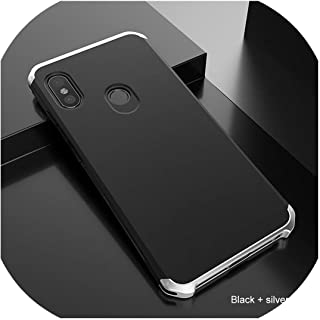 for xiaomi Note 7 6 5 Pro 5A 4 4Xケース3 in 1ハイブリッドPCハードファンダ用for xiaomi Mi5 Mi 8 9 6 Mix Capa用メタルフレーム電話ケース,For xiaomi Mi 5S,black silver