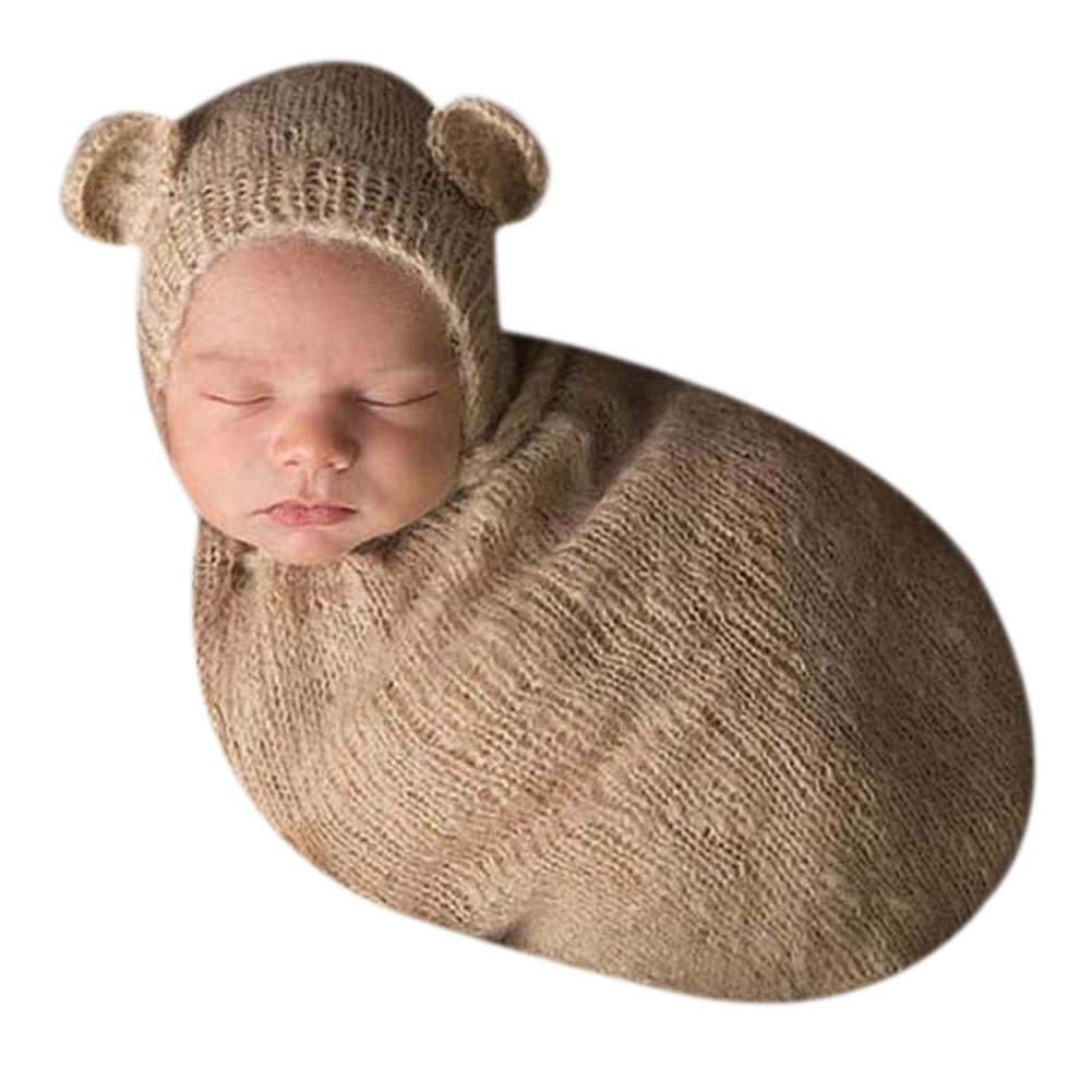 Unisex Newborn Baby Crochet Knit Costume Photo Photography Props Hats Outfits