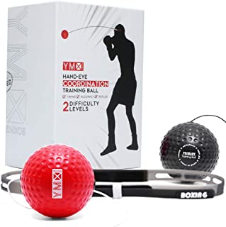 YMX Boxing Reflex Ball on String - Fight Ball with Adjustable Headband,Soft Foam Balls -Improve Hand Eye Coordination, Reaction Speed, Focus, Accuracy - Cardio Sports Exercise Equipment