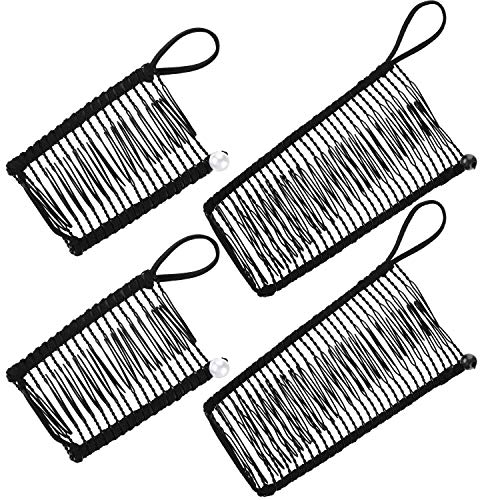 4 Pieces Banana Hair Clips Clincher Comb Banana Hair Grip No Crease Hair Clips for Natural Curly Thick Wavy Hair Ponytail Style and Up-do (Black)
