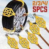 Chaîne à neige pour pneu Leiwenkai 165-255cm Universial Car pneus neige Chaînes voiture Pneus anti-patinage Porte-chaîne Roue de sécurité camion TPU réglable Van VTT Auto (Color : 3Pcs)