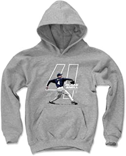 500 LEVEL Blake Snell Tampa Bay Baseball Kids Hoodie - Blake Snell Offset